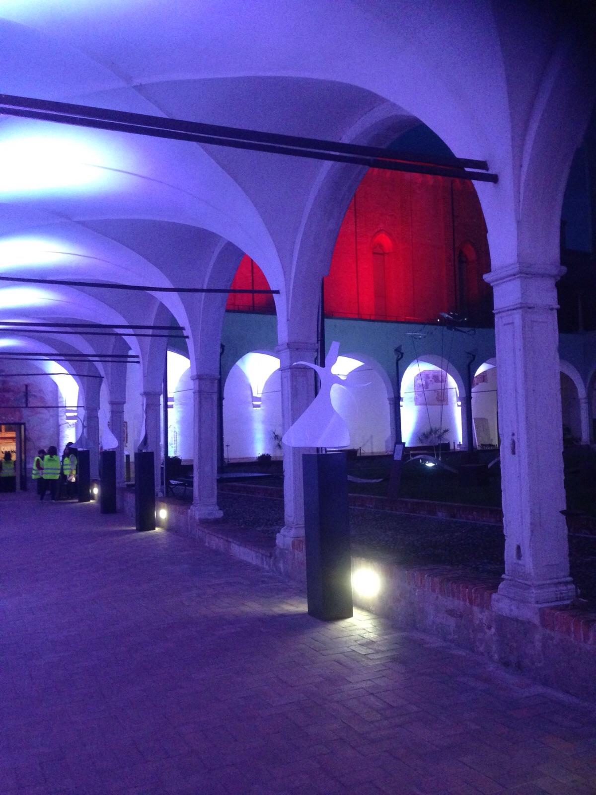 Illuminazione museo Santa Caterina by Mind srl per Carta Carbone festival letterario