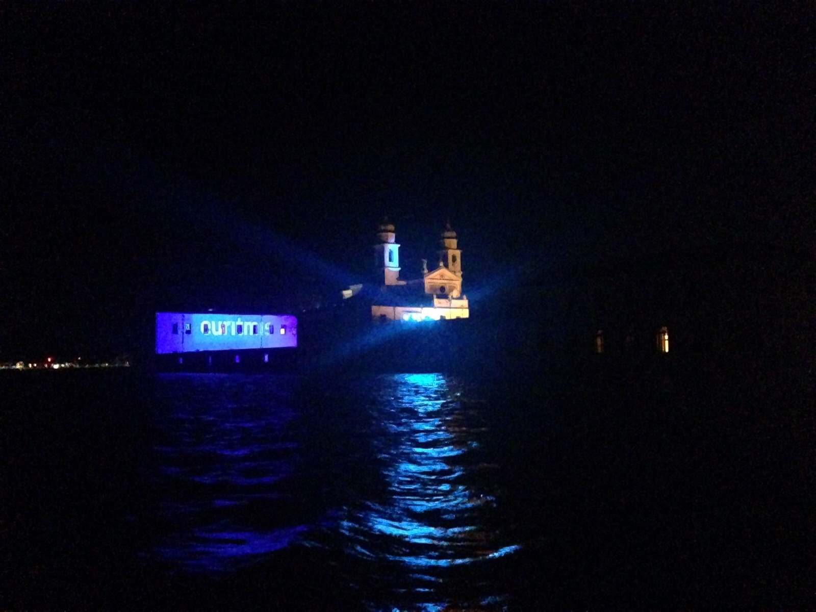 Isola di San Servolo illuminata da Mind Srl in occasione dell'evento Euritmie.